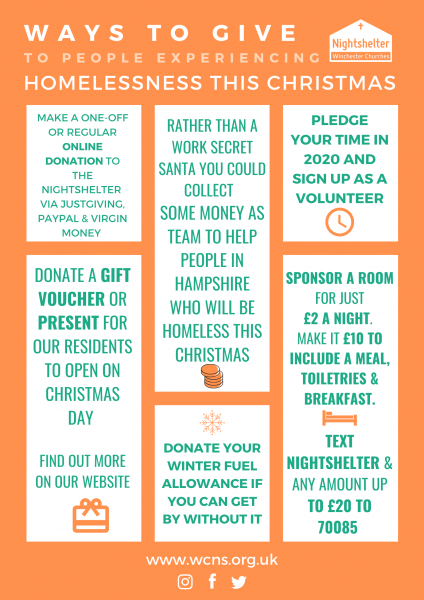 Help the Nightshelter this Christmas