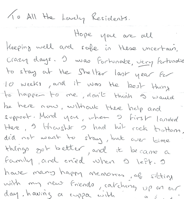 Letter from a former resident